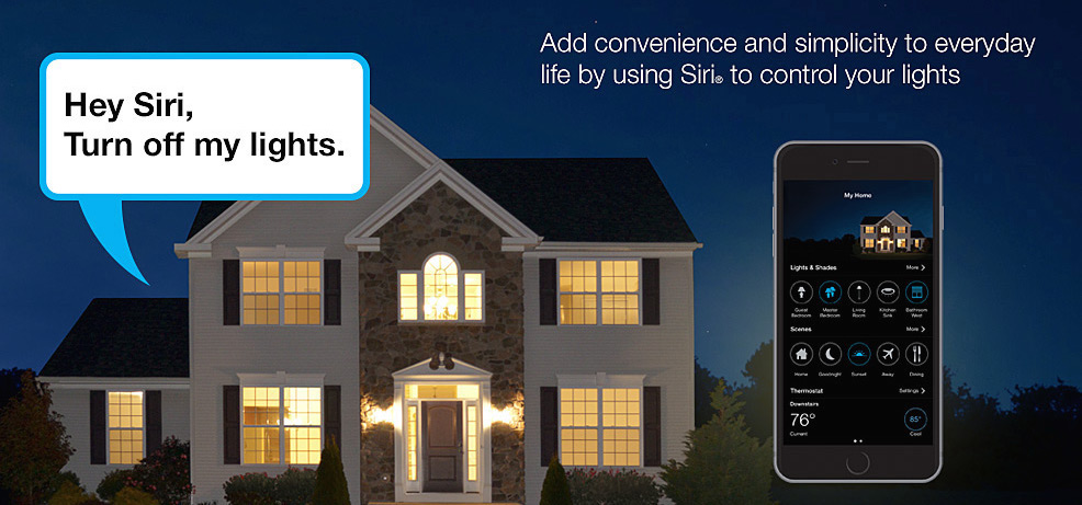 Lutron home lighting control with Siri