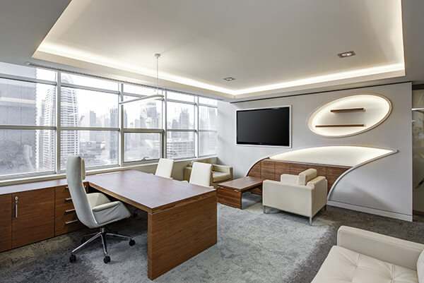 video-conference-screen-executive-office-soundworks-installs-wireless-internet-westchester