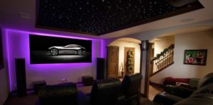 Soundworks Black Diamond Series Screen for Home Theater by Screen Innovations no edge