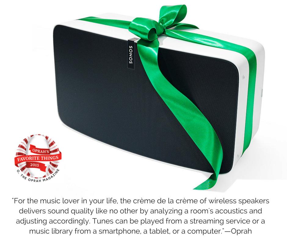 Sonos Wireless Sound Sysem Oprah's Favorite Things