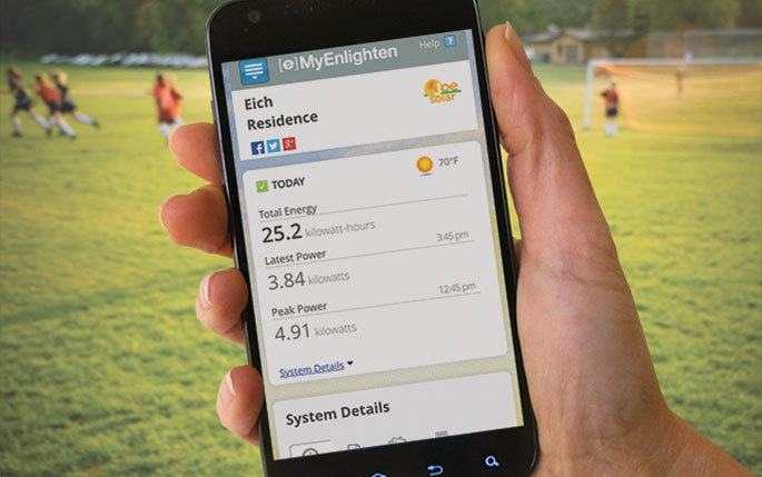 Smart Home Owners Monitor Solar Energy From Smart Phone Apps