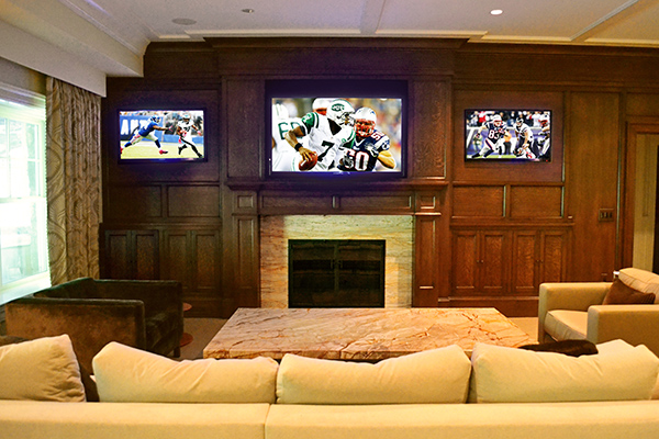 sports-viewing-room-home-entertainement-three-screens-westchester-soundworks